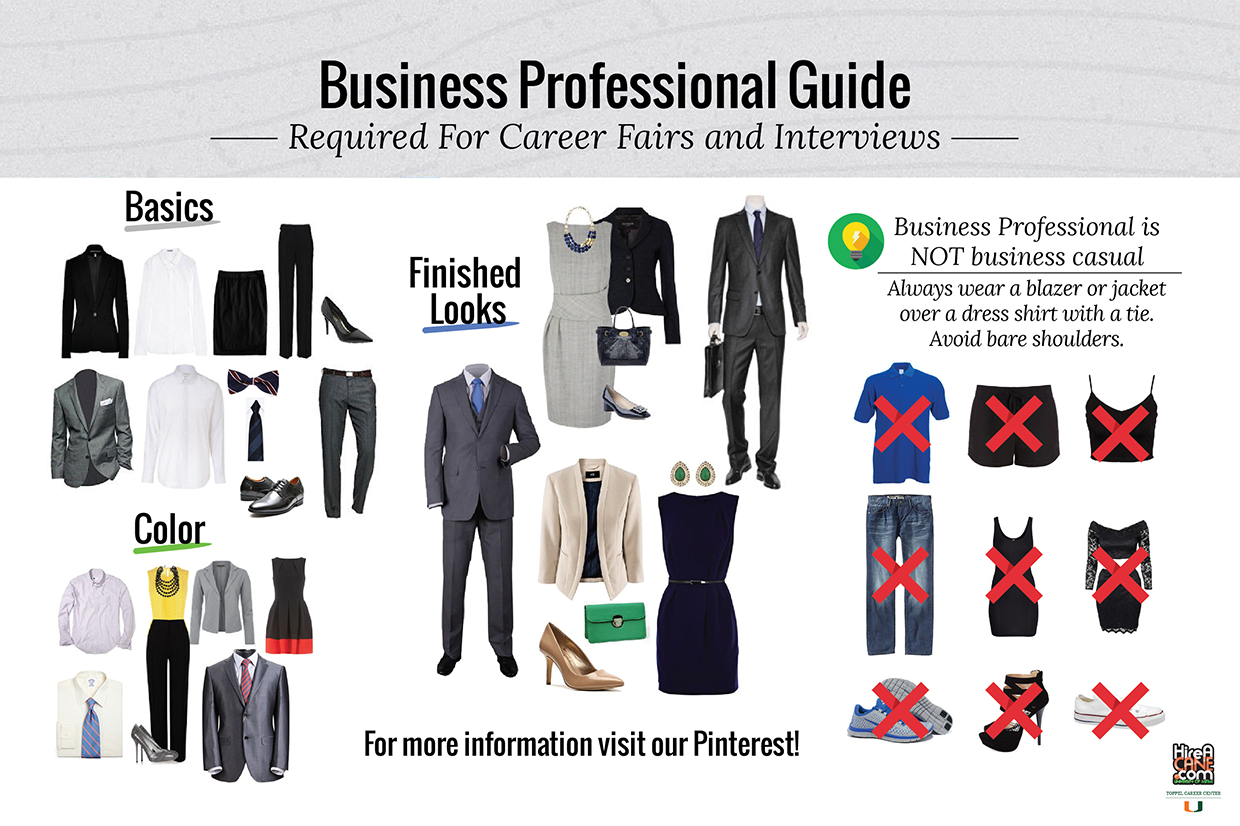 dress for success toppel career center university of miami guide to dressing for success detailing what is and is not acceptable business professional attire